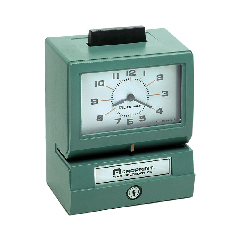 Acroprint Model BP125 12 12V Battery Powered Punch Time Recorder