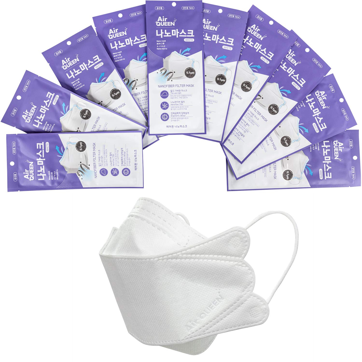 Air Queen PM95 Nano Filter Face Mask 100 PACK