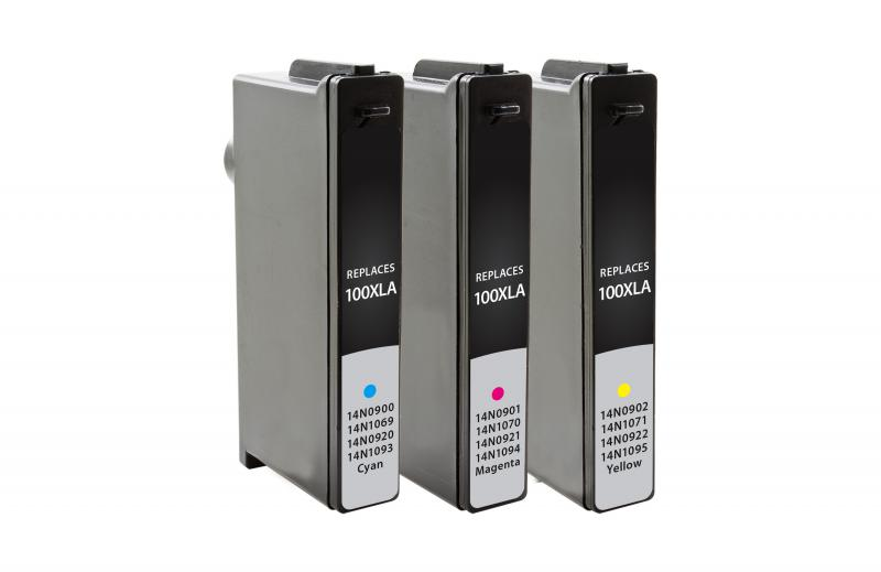 Black Dataproducts Remanufactured Ink Cartridge Replacement for Lexmark 100XLA