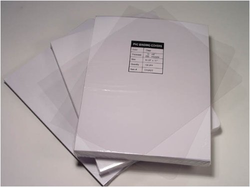 Akiles 7 Mil 85 x 11 Square Corner Crystal Clear Binding Cover 100 Pack
