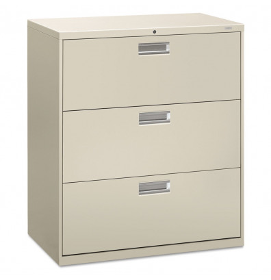 Office Dimensions Commercial Grade 36 Wide 3 Drawer Lateral File Cabinet Charcoal