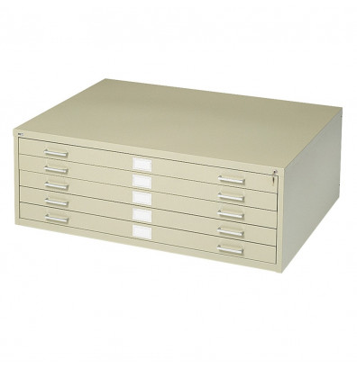 5-Drawer Gray Safco Products 4994GRR Flat File for 36W x 24D Documents Additional options sold separately