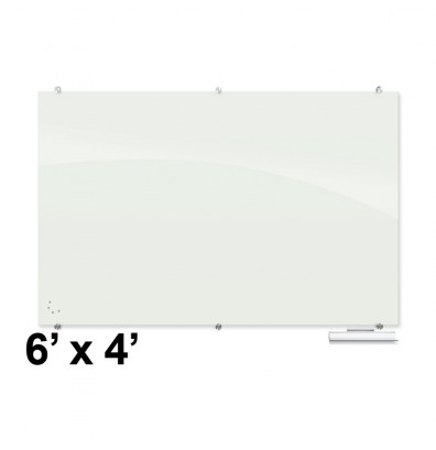 Best Rite Visionary 6 X 4 Magnetic Glass Whiteboard