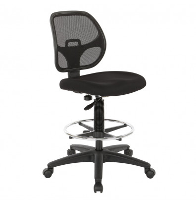 Deluxe Mesh Back Fabric Drafting Chair