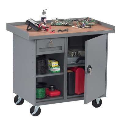 Excellent Tennsco 42 W X 25 D 2 Shelf Drawer And Cabinet Laminate Top Mobile Workbench 1000 Lb Capacity Medium Grey Lamtechconsult Wood Chair Design Ideas Lamtechconsultcom