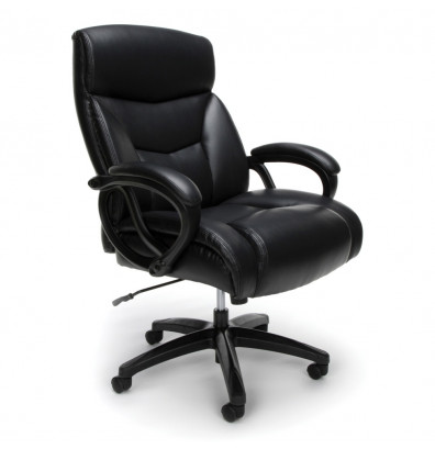 Fantastic Ofm Essentials Big Tall 350 Lb Leather Mid Back Executive Office Chair Ess 6040 Spiritservingveterans Wood Chair Design Ideas Spiritservingveteransorg