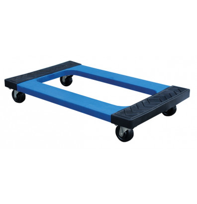 Vestil Rubber Pad Polyethylene Plastic Dolly 1000 Lb Load 18 X 30