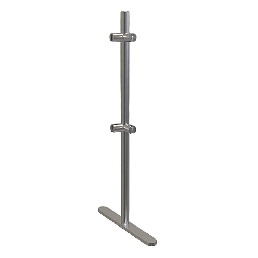 ADM EP6 275 H Stainless Steel Corner Post for Freestanding Sneeze Guards