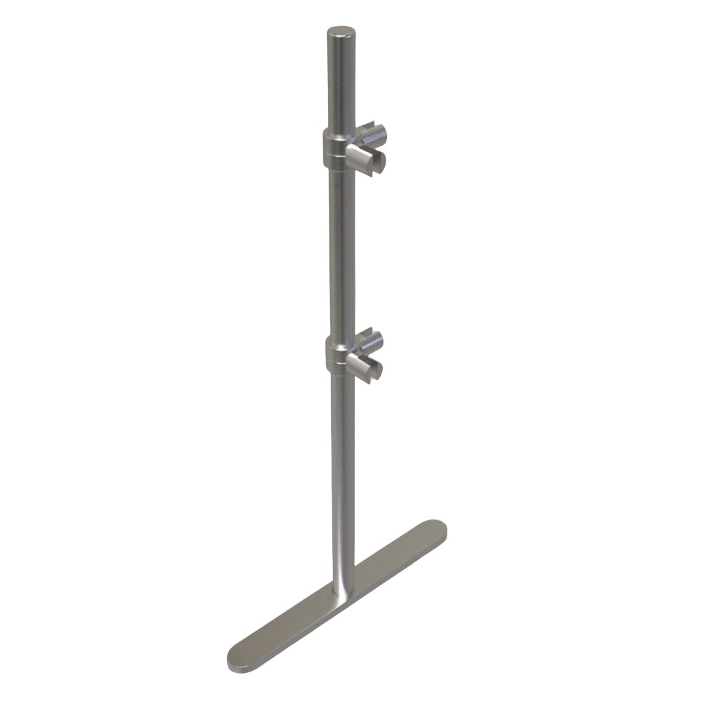 ADM EP6 275 H Stainless Steel Adjustable Angle Post for Freestanding Sneeze Guards