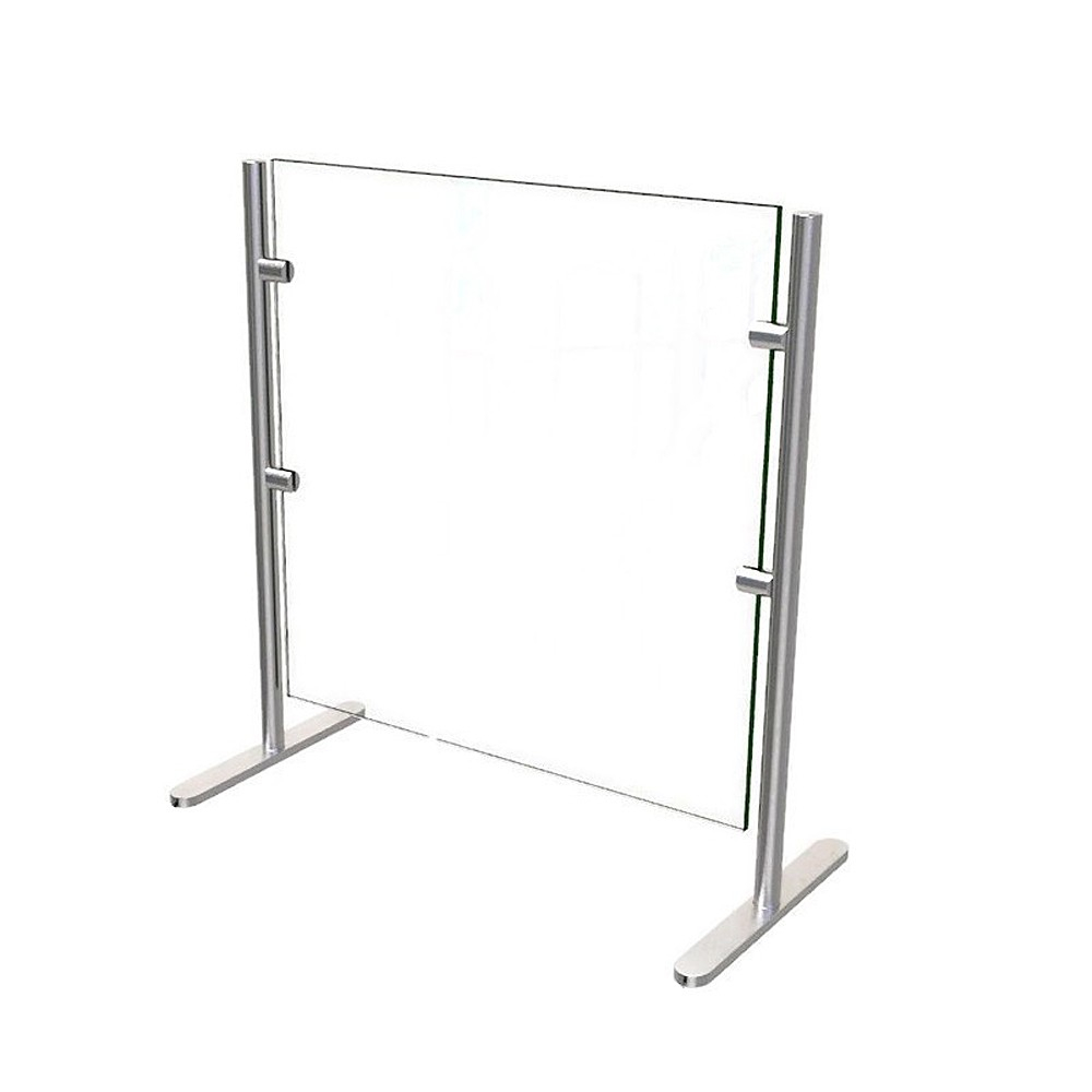 ADM EP6 275 H Freestanding Clear Glass Sneeze Guard