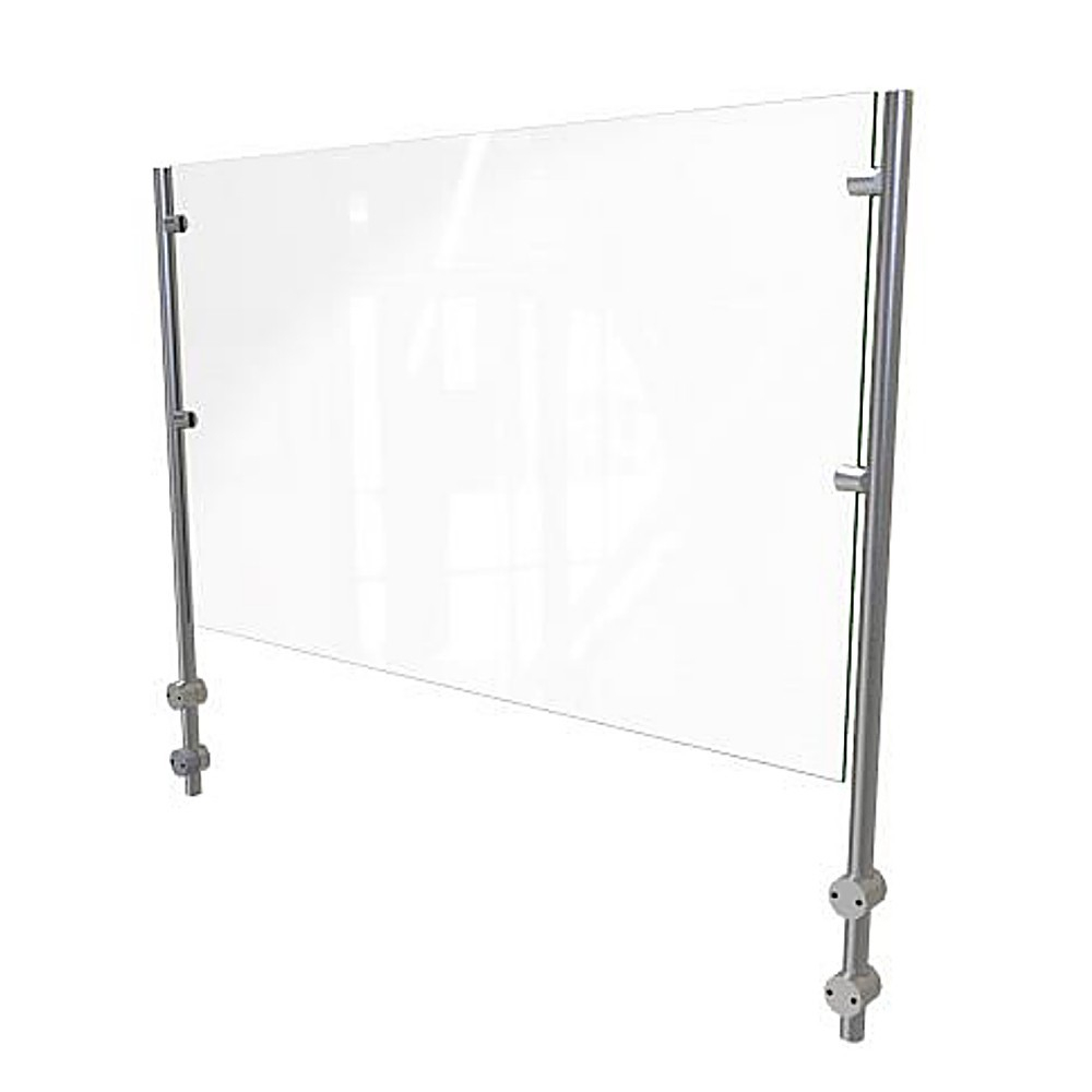 ADM EP7 36 H Bolted Clear Glass Sneeze Guard