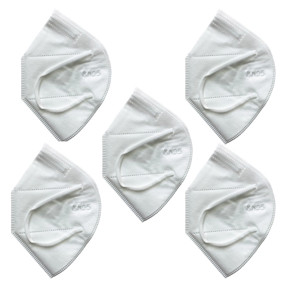 5 Ply Disposable KN95 Face Mask with Ear Loops 5 Pack