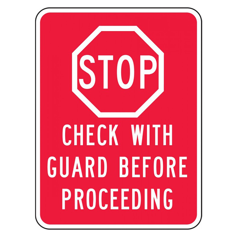 Accuform 24 x 18 Engineer Grade Prismatic Facility Traffic Sign