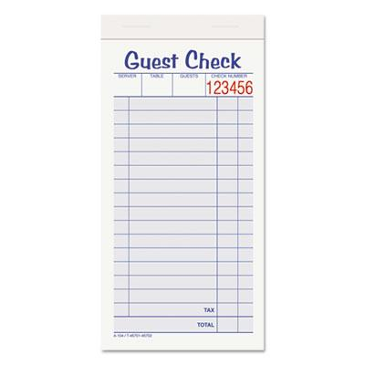 Adams 3 38 x 6 78 10 Pack Guest Check Set 50 Forms
