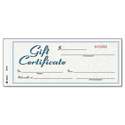 Adams 8 X 3 25 24lb 25 Sheets WhiteCanary Gift Certificates with Envelopes