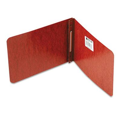 Acco 2 Capacity 5 12 x 8 12 Prong Clip Reinforced Hinge Pressboard Report Cover Red