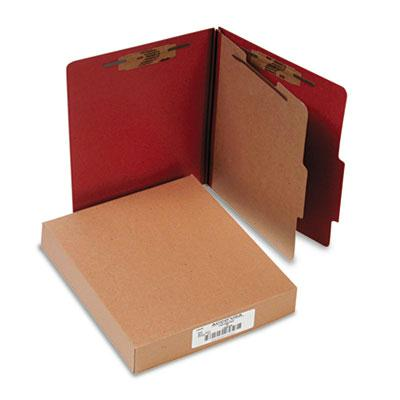 Acco 4 Section Letter Pressboard 25 Point Classification Folders Earth Red 10Box