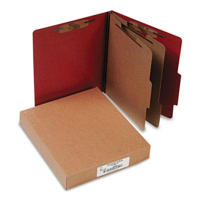 Acco 6 Section Letter Pressboard 25 Point Classification Folders Earth Red 10Box