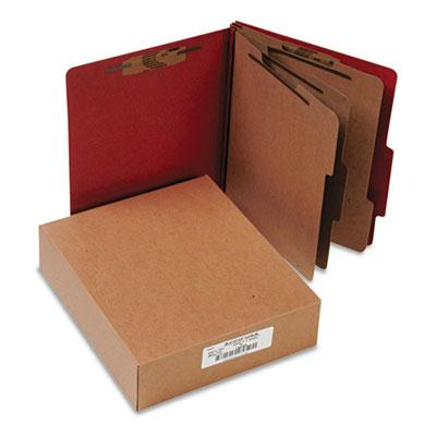 Acco 8 Section Letter Pressboard 25 Point Classification Folders Earth Red 10Box