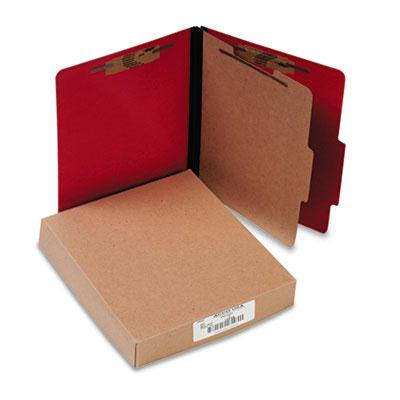 Acco 4 Section Letter Presstex 20 Point Classification Folders Executive Red 10Box