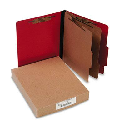 Acco 6 Section Letter Presstex 20 Point Classification Folders Executive Red 10Box