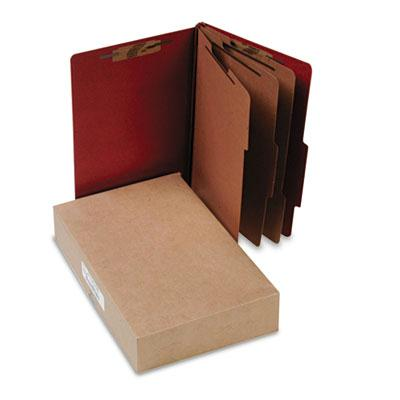 Acco 8 Section Legal Pressboard 25 Point Classification Folders Earth Red 10Box