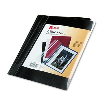 Acco 12 Capacity 8 12 x 11 Prong Clip Report Cover Black