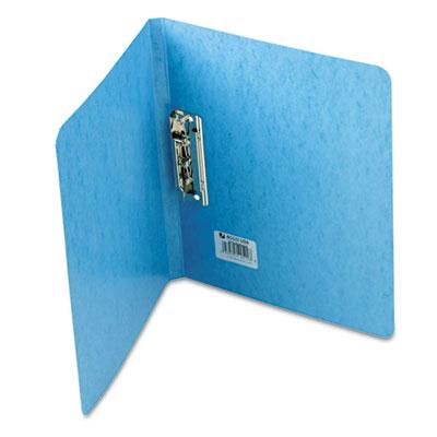 Acco 58 Capacity 8 12 x 11 Presstex Grip Punchless Spring Action Clamp Binder Light Blue