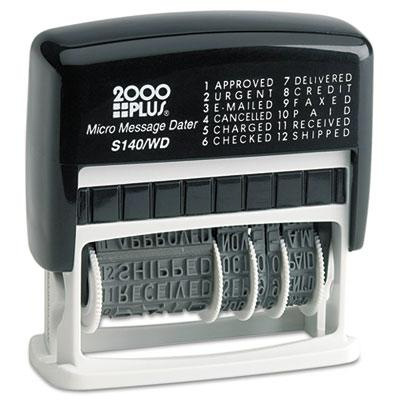 2000 Plus Self Inking Micro Message Dater Black Ink