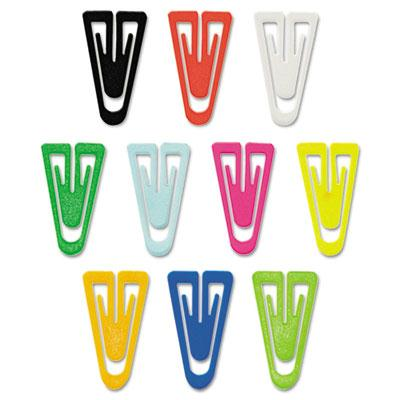 Acco Large Plastic Paper Clips Assorted Colors 200Box