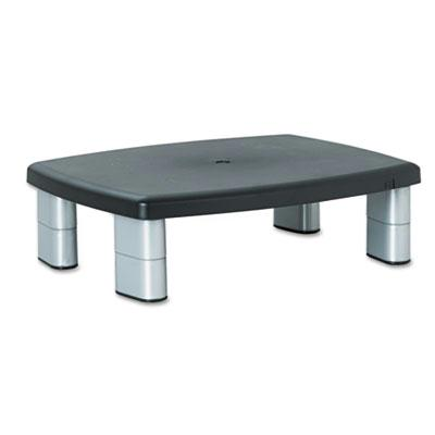 3M 1 to 5 78 H Adjustable Height Monitor Stand BlackSilver
