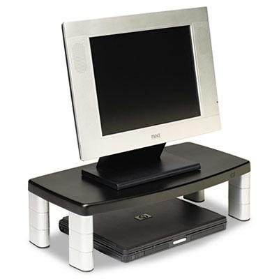 3M 2 12 to 5 34 H Extra Wide Adjustable Monitor Stand Black
