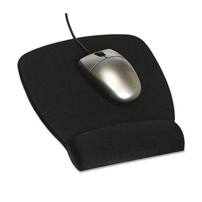 3M 8 12 x 6 34 Foam Nonskid Mouse Pad with Wrist Rest Black