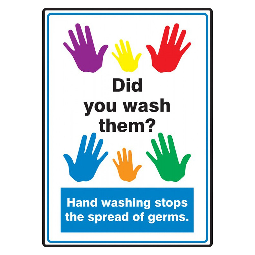 Accuform 14 x 10 Adhesive Vinyl Hand Washing School Safety Sign