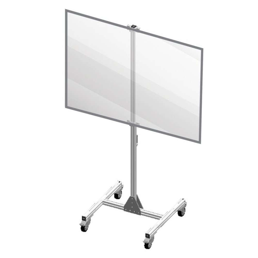 Accuform 48 W x 71 H Freestanding Clear Plastic Mobile Room Divider