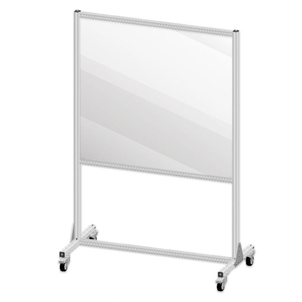 Accuform 50 W x 78 H Freestanding Clear Plastic Mobile Room Divider