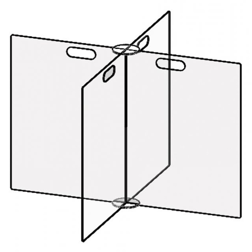 Accuform 4 Person Freestanding Clear Thermoplastic Tabletop Divider Partition