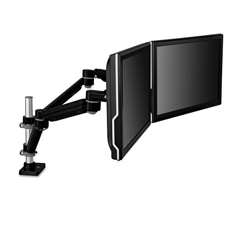 3M Easy Adjust Dual Monitor Arm Desk Mount For Monitors Up To 27 BlackGray
