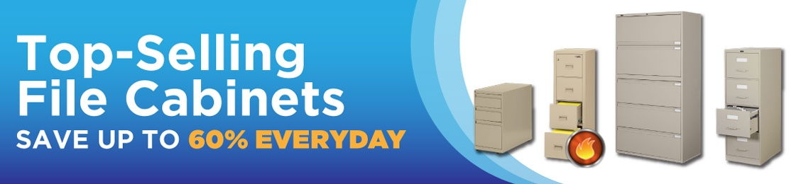 Top-Selling File Cabinets - Save up to 60% Everyday